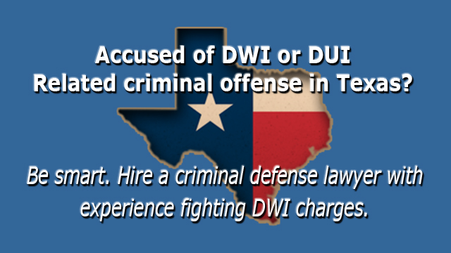 Texas and DWI Offenses